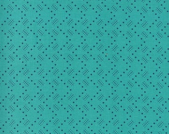 Turquoise Stroll Fabric - Flowers for Freya - Linzee McCray - Moda Fabrics - Floral Fabric - Flower Fabric - Sold by the Yard