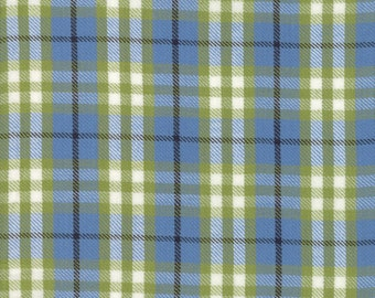 Oxford Wovens Fabric - Chambray Plaid Woven Fabric - Sweetwater - Moda Fabric - Plaid Fabric - Blue Fabric - Woven Fabric - Sold by the Yard