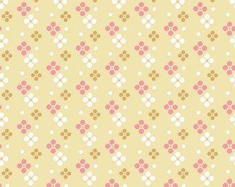 In the Meadow Fabric - Yellow Meadow Spot Fabric - Keera Job - Riley Blake Designs - Sold by the Yard