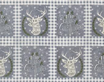 SALE | Hearthside Holiday - Grey Panel Fabric - Deb Strain - Moda Fabrics
