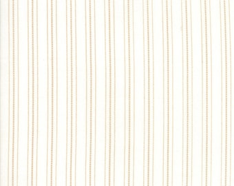 FAT EIGHTH | 101 Maple Street Fabric - Cream Country Stripes Fabric - Bunny Hill Designs - Moda Fabric - Fall Fabric - Stripes Fabric