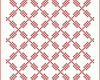 Estalla Quilt Pattern - Acorn Quilts - Moda Fabric - Christmas Quilt Pattern - 3 Sizes of Quilt