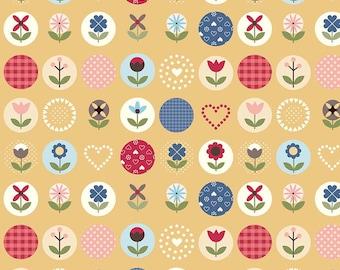 5 Yard Quilt Backing | Gretel Fabric - Yellow Flower Dot Fabric - Amy Smart - Riley Blake Designs - Hansel & Gretel Fabric - Floral Fabric