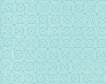 Little Tree Fabric - Aqua Geometric Fabric - Lella Boutique - Moda Fabrics - Christmas Fabric - Holiday Fabric - Sold by the Yard