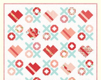 """Love You Most Quilt Pattern - Cotton Way Pattern - Bonnie Olaveson - Bonnie and Camille - Fat Quarters Pattern - 72"""" x 72"""" Quilt"""
