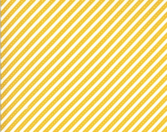 Yellow Bias Stripes Fabric - On the Go - Stacy Iest Hsu - Moda Fabrics - Transportation Fabric - Airplane Fabric - Sold by the Yard