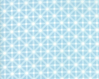 SALE | Good Tidings Fabric - Blue Ice Star Plaid Fabric - Brenda Riddle - Moda Fabric - Christmas Fabric - Sold by the Yard