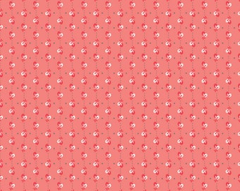 Autumn Love Fabric by Lori Holt for Riley Blake Designs | Coral Leaves Fabric - Sold by the Yard