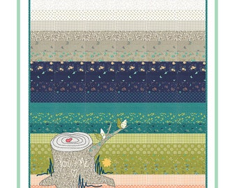 "Love Knot Quilt Pattern - Shannon Gillman Orr - Moda Fabric Pattern - Jelly Roll Quilt Pattern - 40"" x 42"" Quilt"