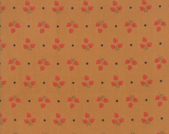 101 Maple Street Fabric - Gold Maple Leaves Fabric - Bunny Hill Designs - Moda Fabric - Fall Fabric - Autumn Fabric - Sold by the Yard