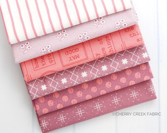 Lollipop Garden Pink & Purple Fat Quarter Bundle - Lella Boutique - Moda Fabric - Fat Quarter Fabric - Fabric Bundle - 6 pieces