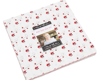 Merry Merry Snow Days Layer Cake - Bunny Hill Designs - Moda Fabric - Fabric Bundle - Moda Layer Cake - 42 pieces