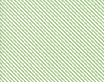 FAT QUARTER | Green Bias Stripe Fabric - Bloomington Fabric - Lella Boutique - Moda Fabrics - Fabric Bundle - Flower Fabric
