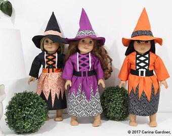 Doll Halloween Costume - Orange Witch Doll Costume