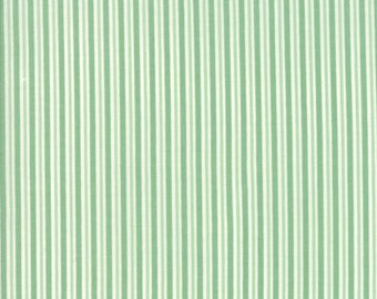Sweet Christmas Fabric - Green Candy Cane Stripe Fabric - Urban Chiks - Moda Fabric - Christmas Fabric - Sold by the Yard
