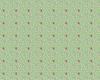 Green Leaves Fabric - Vintage Happy 2 - Lori Holt