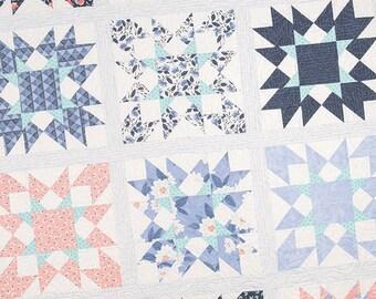 Nightshade Quilt Pattern - It's Sew Emma - Moda Fabric Pattern - Fat Quarter Quilt Pattern - 3 Sizes
