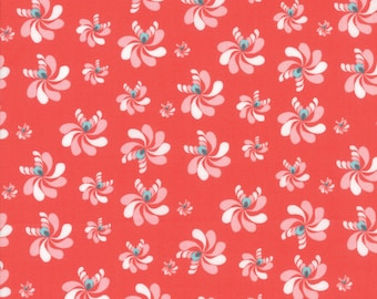 Coledale Fabric - Coral Native Seeds Fabric - Franny & Jane - Moda Fabric - Flower Fabric - Floral Fabric - Sold by the Yard