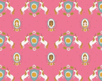 5 Yard Quilt Backing | Guinevere - Hot Pink Main Fabric - Citrus & Mint - Riley Blake Designs