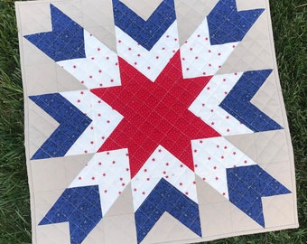 Christmas Star Barn Quilt - PDF Quilt Pattern - Beginner Quilt Pattern - Star Quilt Pattern