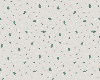 Off White Trees Fabric - Natàlia Juan Abelló - Riley Blake Fabrics - Outdoor Fabric - Pine Tree Fabric - Sold by the Yard
