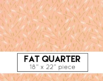 FAT QUARTER | The Front Porch Fabric - Peach Floral Stems Fabric - Sherri & Chelsi