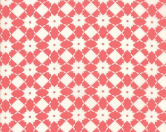 Garden Variety Fabric - Pink Weave Fabric - Lella Boutique - Moda Fabric - Geometric Fabric - Basketweave Fabric - Sold by the Yard