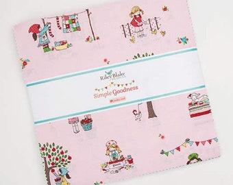 Simple Goodness Layer Cake - Tasha Noel - Riley Blake Designs - Layer Cake Fabric - Fabric Squares - 42 pieces
