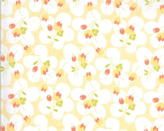 Chantilly Fabric - Peach Posies Fabric - Fig Tree & Co - Moda Fabric - Floral Fabric - Flower Fabric - Fabric by the Yard