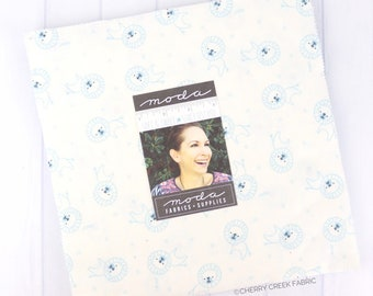 Soft & Sweet Flannel Blue Layer Cake - Stacy Iest Hsu - Moda Fabrics - Fabric Bundle - Flannel Fabric - 20 pieces