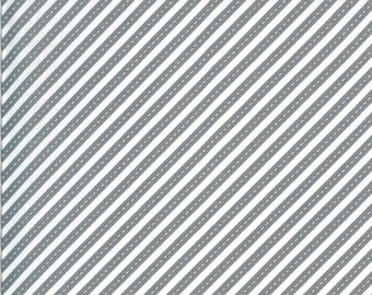 Gray Bias Stripes Fabric - On the Go - Stacy Iest Hsu - Moda Fabrics - Transportation Fabric - Airplane Fabric - Sold by the Yard