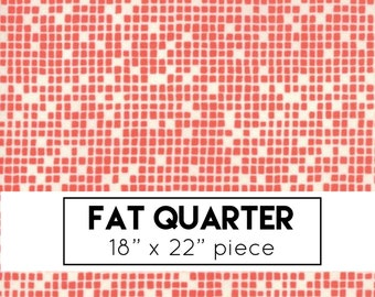 FAT QUARTER | Lazy Days Fabric - Orange Cobblestone Fabric - Gina Martin - Moda Fabric - Geometric Fabric - Orange Fabric