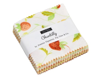 Chantilly Mini Charm Pack - Fig Tree & Co - Moda Fabric - Fabric Bundle - Moda Mini Charm Pack - 42 pieces