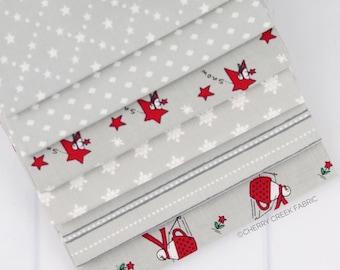 Merry Merry Sno Days Gray Fat Quarter Bundle - Bunny Hill Designs