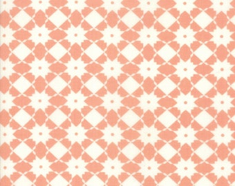 Garden Variety Fabric - Peach Weave Fabric - Lella Boutique - Moda Fabric - Geometric Fabric - Basketweave Fabric - Sold by the Yard
