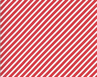 Red Bias Stripes Fabric - On the Go - Stacy Iest Hsu - Moda Fabrics - Transportation Fabric - Airplane Fabric - Sold by the Yard