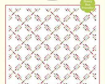 "Snippets 2 Quilt Pattern - Cotton Way Pattern - Bonnie Olaveson - Bonnie and Camille - Honey Bun Pattern - 78"" x 78"" Quilt"