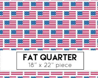 Patriotic Picnic Fabric - White Flags Fabric - Doodlebug Designs