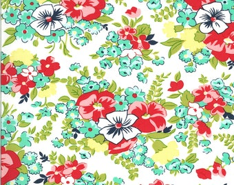 White Meadow Fabric - Shine On Fabric - Bonnie and Camille - Moda Fabric - Flower Fabric - Floral Fabric - Sold by the Yard