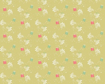 SALE | Winter Tales Fabric - Green Winter Gift Fabric - Minki Kim - Riley Blake Designs - Winter Fabric - Sold by the Yard