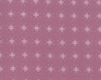Lollipop Garden Fabric - Purple Tic Tac Toe Fabric - Lella Boutique
