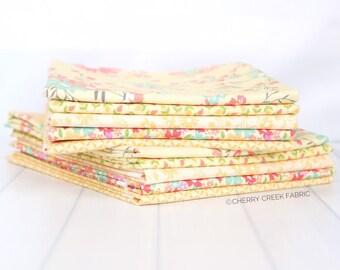 Sunnyside Up Yellow Half Yard Bundle - Corey Yoder - Moda Fabrics - Moda Fabric Bundle - Sunnyside Up Bundle - 5 pieces
