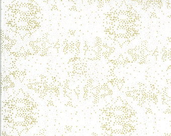 White Fading Light Fabric - Dwell In Possibilities - Gingiber - Moda Fabrics - Grunge Fabric - Sparkle Fabric - Sold by the Yard