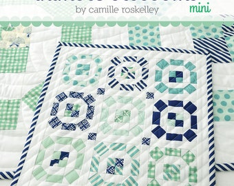 """Puddle Jumping MINI Quilt Pattern - Thimble Blossoms Pattern - Camille Roskelley - Bonnie and Camille - Fat Eighth Pattern - 12"""" x 12"""" Quilt"""