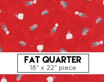 FAT QUARTER | Sno Fabric - Red Mouse Fabric - Northern Quilts - Moda Fabrics - Christmas Fabric - Holiday Fabric