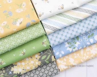 Spring Brook Mini Fat Quarter Bundle - Corey Yoder - Moda Fabrics - Floral Fabric - Fabric Bundle - 10 pieces