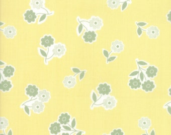 Garden Variety Fabric - Yellow Handpicked Bouquet Fabric - Lella Boutique - Moda Fabric - Floral Fabric - Flower Fabric - Sold by the Yard