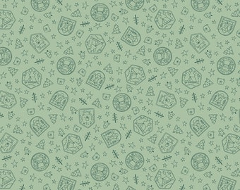 Pistachio Scout Badges Fabric - Natàlia Juan Abelló - Riley Blake Fabrics - Outdoor Fabric - Badge Fabric - Green Fabric - Sold by the Yard