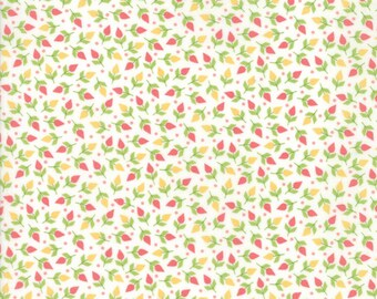 Sunnyside Up Fabric - White Tiny Buds Fabric - Corey Yoder - Moda Fabrics - Floral Fabric - Flower Fabric - Sold by the Yard
