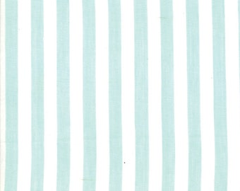 Aqua Stripe Woven Fabric - Bonnie and Camille Wovens - Moda Fabric - Stripe Binding Fabric - Woven Fabric - Sold by the Yard